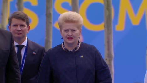 Lithuanian-President-Dalia-Grybauskaite-Arrives-At-The-Nato-Summit-In-Brussels-Belgium-1