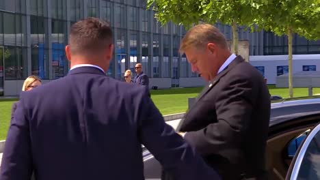 Romania-Prime-Minister-Klaus-Iohannis-Arrives-At-The-Nato-Summit-In-Brussels-Belgium