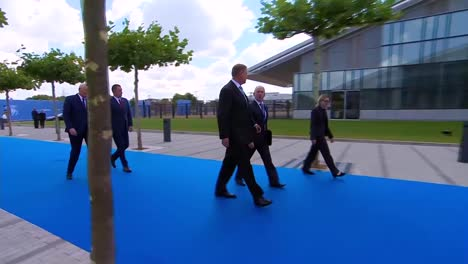 Romania-President-Klaus-Iohannis-Arrives-At-The-Nato-Summit-In-Brussels-Belgium
