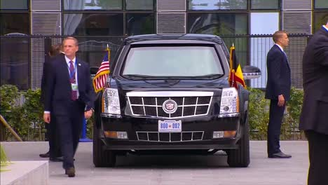 Us-President-Donald-Trump-Presidential-Limousine-Sits-Outside-A-Building-At-The-Nato-Summit-In-Brussels-Belgium-1