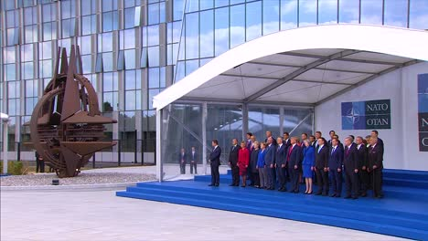 International-Dignitaries-Pose-For-A-Group-Photo-At-The-Nato-Summit-In-Brussels-Belgium-3