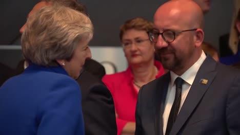 El-Presidente-Albanés-Kolinda-Grabarkitarovic-Justin-Trudeau-Y-Otros-Dignatarios-En-La-Cumbre-De-La-Otan-En-Bruselas-Bélgica