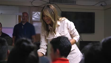 First-Lady-Melania-Trump-Visits-Texas-And-Meets-With-School-Children-In-The-Classroom