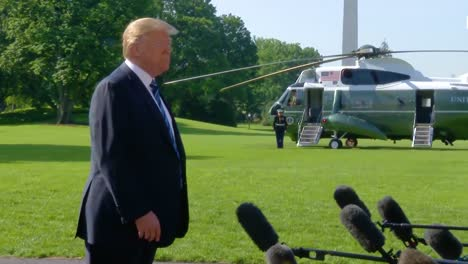 Us-President-Donald-Trump-Answers-Questions-About-North-Korean-Summit-From-The-Press-On-His-Way-To-Helicopter-Mostly-Saying-We-Ll-See-What-Happens-1