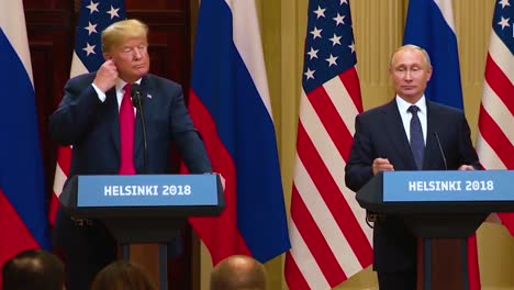 Us-President-Donald-Trump-Holds-A-Disastrous-And-Much-Criticized-Press-Conference-With-Russia-Federation-Vladimir-Putin-Following-Their-Summit-In-Helsinki-Finland-Putin-Speaks-About-Facts-And-False-Friends
