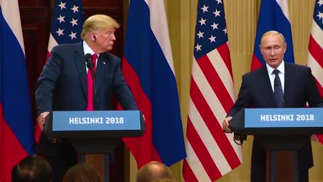 Us-President-Donald-Trump-Holds-A-Disastrous-And-Much-Criticized-Press-Conference-With-Russia-Federation-Vladimir-Putin-Following-Their-Summit-In-Helsinki-Finland-Putin-Says-His-Intelligence-Agency-Will-Question-Mueller