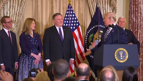 Us-President-Donald-Trump-Swears-In-A-New-Secretary-Of-State-Mike-Pompeo