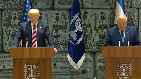 Us-President-Donald-Trump-And-Israel-President-Reuven-Rivlin-Exchange-Remarks-During-The-Presidential-Visit-To-Jerusalem-Defeating-Isis-Is-Discussed