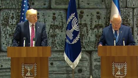 Us-President-Donald-Trump-And-Israel-President-Reuven-Rivlin-Exchange-Remarks-During-The-Presidential-Visit-To-Jerusalem-1