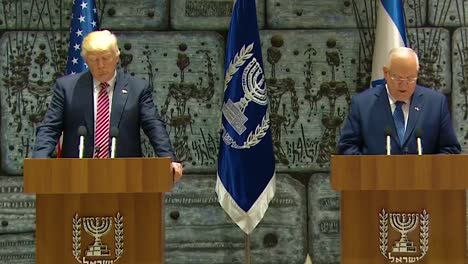 Us-President-Donald-Trump-And-Israel-President-Reuven-Rivlin-Exchange-Remarks-During-The-Presidential-Visit-To-Jerusalem-Iran-Isis-And-Other-Enemies-Are-Discussed