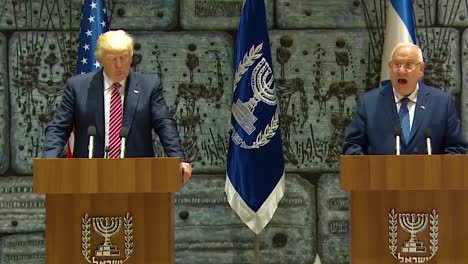 Us-President-Donald-Trump-And-Israel-President-Reuven-Rivlin-Exchange-Remarks-During-The-Presidential-Visit-To-Jerusalem-Iran-As-An-Enemy-And-Bad-Actor-In-Region-Is-Discussed