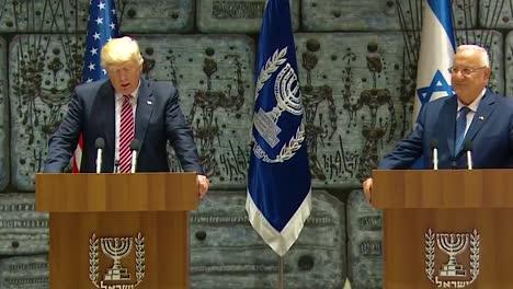 El-Presidente-Estadounidense-Donald-Trump-Y-El-Presidente-De-Israel-Reuven-Rivlin-Intercambian-Comentarios-Durante-La-Visita-Presidencial-A-Jerusalén-Se-Discute-La-Amistad-Duradera-De-Estados-Unidos-E-Israel-