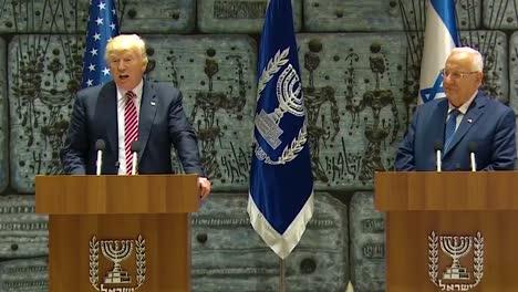 El-Presidente-Estadounidense-Donald-Trump-Y-El-Presidente-De-Israel-Reuven-Rivlin-Intercambian-Comentarios-Durante-La-Visita-Presidencial-A-Jerusalén-Se-Comprometen-A-Luchar-Contra-El-Terrorismo