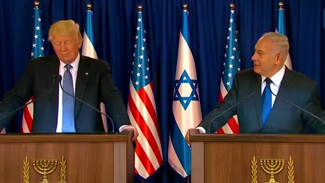 Us-President-Donald-Trump-And-Israel-Prime-Minister-Benjamin-Netanyahu-Exchange-Remarks-During-The-Presidential-Visit-To-Jerusalemthe-Western-Wall