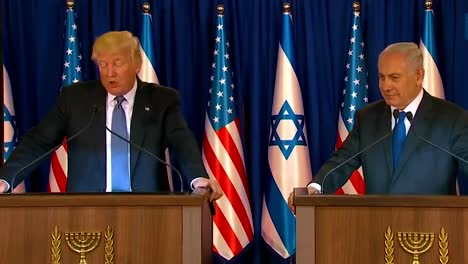 Us-President-Donald-Trump-And-Israel-Prime-Minister-Benjamin-Netanyahu-Exchange-Remarks-During-The-Presidential-Visit-To-Jerusalem-5