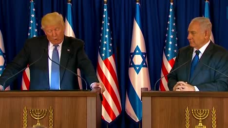 Us-President-Donald-Trump-And-Israel-Prime-Minister-Benjamin-Netanyahu-Exchange-Remarks-During-The-Presidential-Visit-To-Jerusalem-7