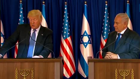 Us-President-Donald-Trump-And-Israel-Prime-Minister-Benjamin-Netanyahu-Exchange-Remarks-During-The-Presidential-Visit-To-Jerusalem-8