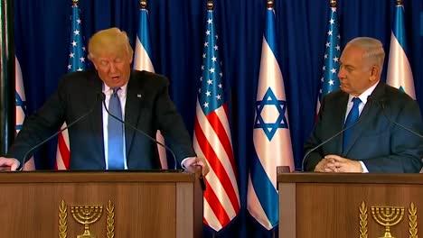 El-Presidente-Estadounidense-Donald-Trump-Y-El-Primer-Ministro-De-Israel-Benjamin-Netanyahu-Intercambian-Comentarios-Durante-La-Visita-Presidencial-A-Jerusalén-9