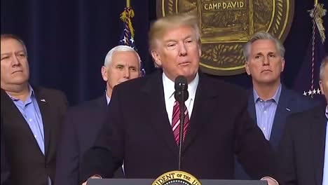 Us-President-Donald-Trump-Says-That-Mexico-Will-Pay-For-The-Wall-During-An-Immigration-Policy-Discussion-At-Camp-David
