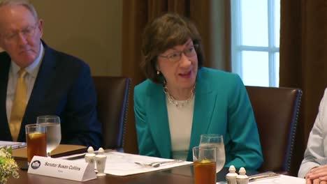 Maine-Senator-Susan-Collins-Advises-Us-President-Donald-Trump-In-The-White-House