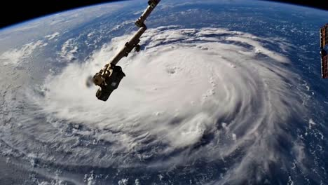Shots-From-Nasa-Space-Station-Of-Hurricane-Florence-Approaching-The-Coast-Of-North-America-1