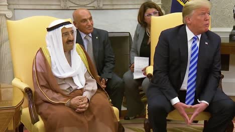 Us-President-Donald-Trump-Meets-With-The-Amir-Of-The-State-Of-Kuwait-In-The-White-House-And-Discusses-Bob-Woodward-S-Book-As-A-Work-Of-Fiction