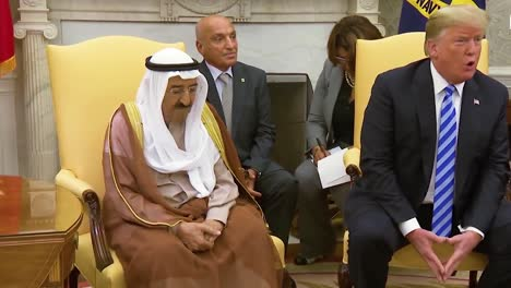 Us-President-Donald-Trump-Meets-With-The-Amir-Of-The-State-Of-Kuwait-In-The-White-House-And-Discusses-Bob-Woodward\-S-Book-As-A-Work-Of-Fiction-1