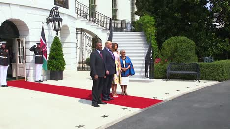 Us-President-Donald-Trump-And-First-Lady-Melania-Trump-Welcome-President-And-Mrs-Kenyatta-Of-Kenya-To-The-White-House-For-A-Formal-State-Visit