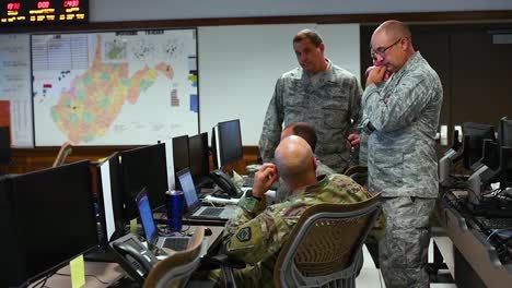 Members-Of-The-West-Virginia-National-Guard-Closely-Monitor-The-Upcoming-Weather-Events-Of-Hurricane-Florence-In-The-Wvng-Joint-Force-Headquarters-Joint-Operations-Center-2