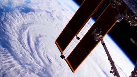 Shots-From-Nasa-Space-Station-Of-Hurricane-Florence-Approaching-The-Coast-Of-North-America-13