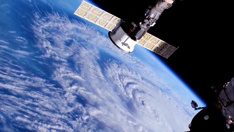 Shots-From-Nasa-Space-Station-Of-Hurricane-Florence-Approaching-The-Coast-Of-North-America-15