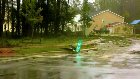 Trees-Are-Downed-Across-Roadways-And-Streets-As-Rescue-Workers-In-A-Suburban-North-Carolina-Neighborhood-In-The-Wake-Of-Hurricane-Florence