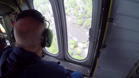 Helicopter-Search-And-Rescue-Team-Flies-Over-Flooded-Neighborhoods-During-Hurricane-Florence