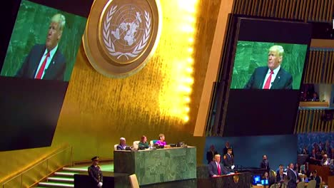 Us-President-Donald-Trump-Addresses-The-United-Nations-General-Assembly-In-New-York-And-Discusses-America-S-Unique-Value-In-The-World