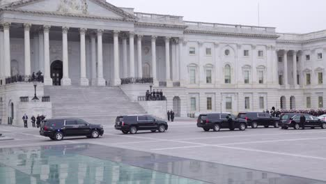 Vehicles-And-Honor-Guard-Arrive-At-The-Us-Capitol-Building-During-The-State-Funeral-For-President-George-H-W-Bush