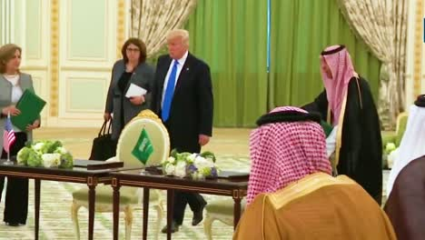 Us-President-Donald-Trump-Participates-In-A-Signing-Ceremony-With-Members-Of-The-Saudi-Government