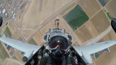 Pov-Shot-Of-The-Cockpit-Of-A-Jet-Fighter-Plane-Doing-A-Barrel-Roll-1