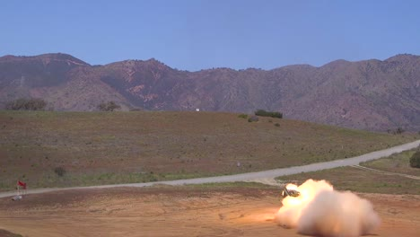 Usa-Truck-Mounted-Rocket-Launchers-Fire-Rocket-Barrages-And-Artillery-During-Battle