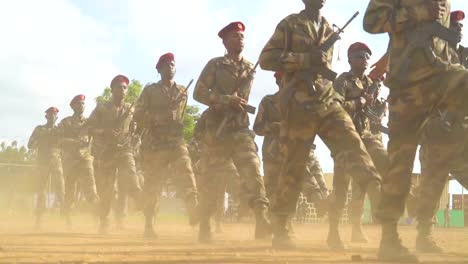 Members-Of-The-Djibouti-Armed-Forces-(Fad)-March-In-Tight-Formation