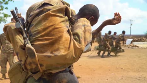 Members-Of-The-Djibouti-Armed-Forces-(Fad)-Perform-A-Commando-Raid-In-The-Desert-And-Rescue-Wounded
