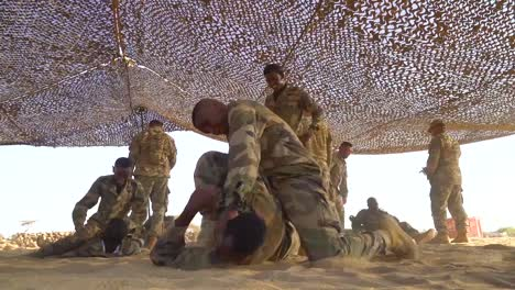 Members-Of-The-Djibouti-Armed-Forces-(Fad)-Perform-A-Commando-Raid-In-The-Desert-And-Rescue-Wounded-1