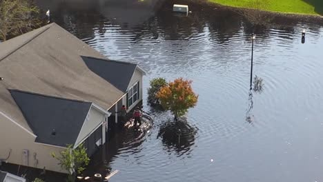 Aerial-Shot-Over-A-Flooded-Neighborhood-In-South-Carolina-In-The-Aftermath-Of-Hurricane-Florence-1