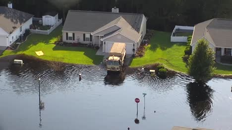Aerial-Shot-Over-A-Flooded-Neighborhood-In-South-Carolina-In-The-Aftermath-Of-Hurricane-Florence-2