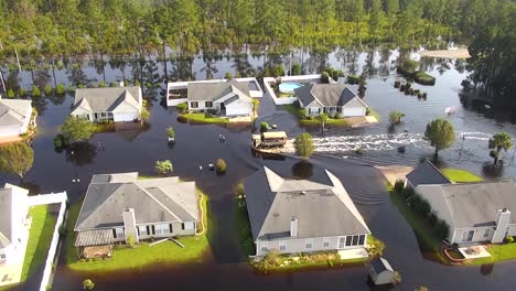 Aerial-Shot-Over-A-Flooded-Neighborhood-In-South-Carolina-In-The-Aftermath-Of-Hurricane-Florence-3
