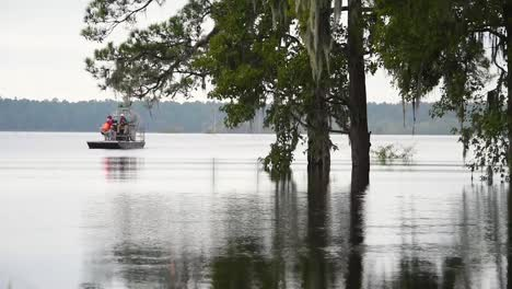 Hurricane-Florence-Slams-Conway-South-Carolina-Causing-Extensive-Flooding-With-Residents-Touring-By-Air-Boat