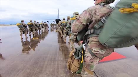 Us-Army-Paratroopers-Assigned-To-The-173Rd-Brigade-Support-Battalion-173Rd-Airborne-Brigade-Deploy-To-A-C130-Airborne-Operation-At-Juliet-Drop-Zone-In-Pordenone-Italy