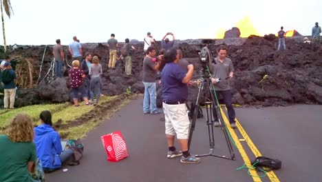 The-Hawaii-National-Guard-Public-Affairs-Media-Team-Escorts-Media-Into-Leilani-Estates-During-The-Kilauea-Volcanic-Eruption-To-Witness-The-Active-Fissures-And-Lava-Flows-In-Two-Areas-In-The-Neighborhood
