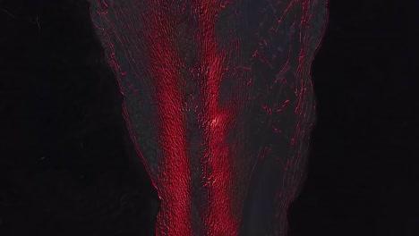 Antena-Sobre-El-Volcán-Kilauea-En-Erupción-Por-La-Noche-Con-Enormes-Flujos-De-Lava-3