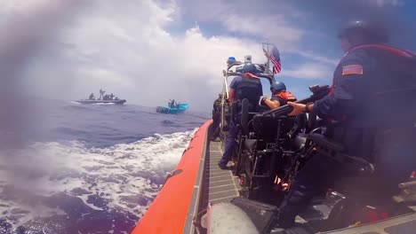 The-Crew-Of-The-Coast-Guard-Cutter-Active-Intercepts-A-Boat-With-More-Than-1-Ton-Of-Cocaine-From-Four-Suspected-Drug-Smugglers-During-A-Counternarcotics-Patrol-In-The-Eastern-Pacific-Ocean