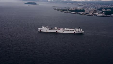Aerial-Of-Military-Sealift-Command-Hospital-Ship-Usns-Mercy-(Tah-19)-Departs-Commander-Fleet-Activities-Yokosuka-Japan-2